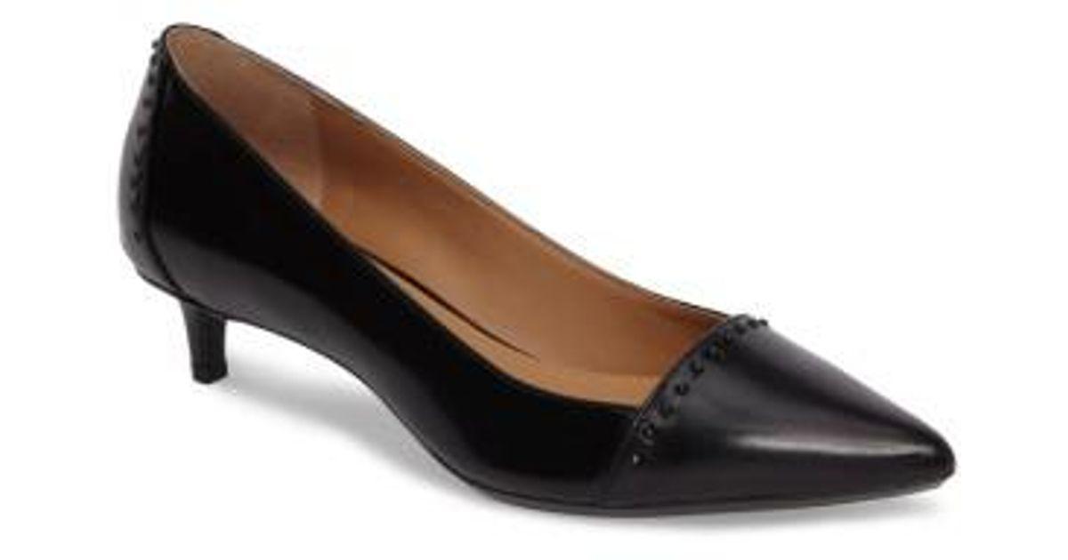 84b2eb502ad28 Calvin Klein Griselda Studded Cap Toe Pump in Black - Lyst