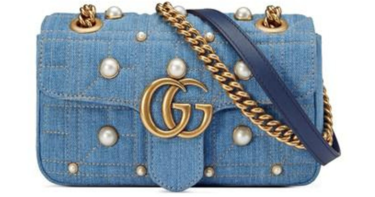 77fe26c50df2 Gucci Denim Bag With Pearls | Stanford Center for Opportunity Policy ...