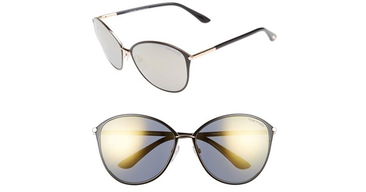 1e7a6b4c88a0 Lyst - Tom Ford Penelope 59mm Gradient Cat Eye Sunglasses in Metallic