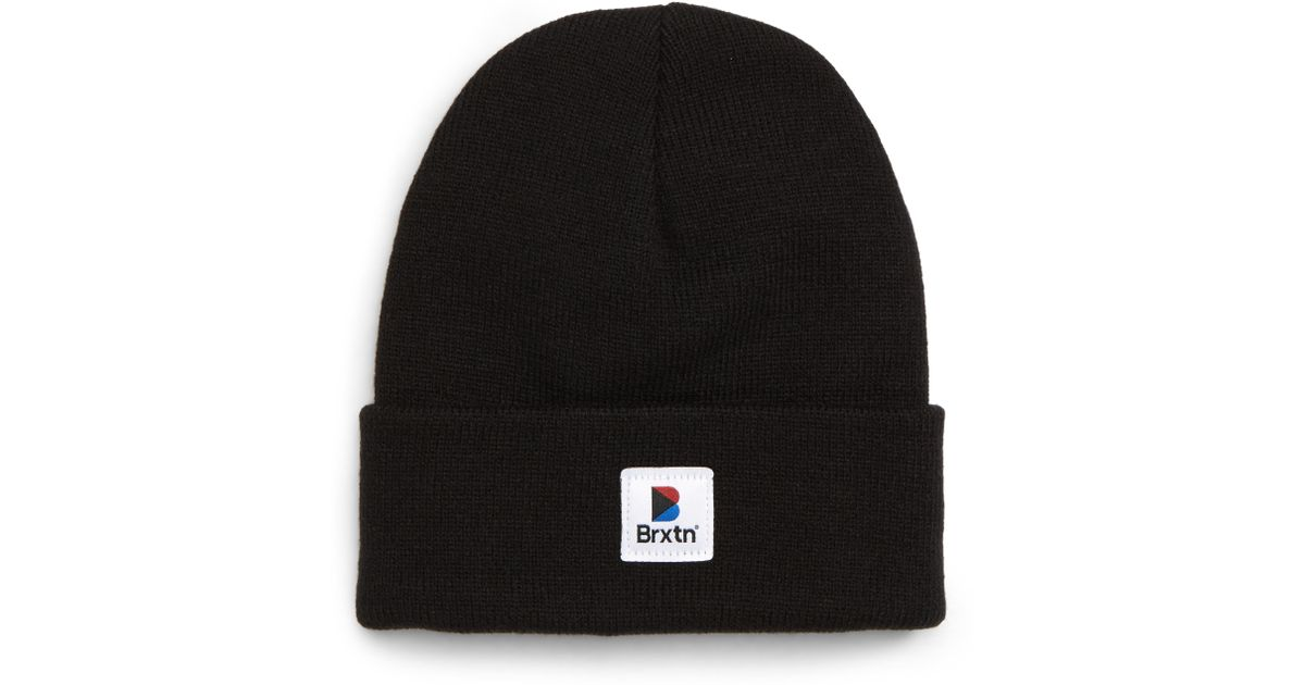 149306f7514 Lyst - Brixton Stowell Ii Beanie - in Black for Men