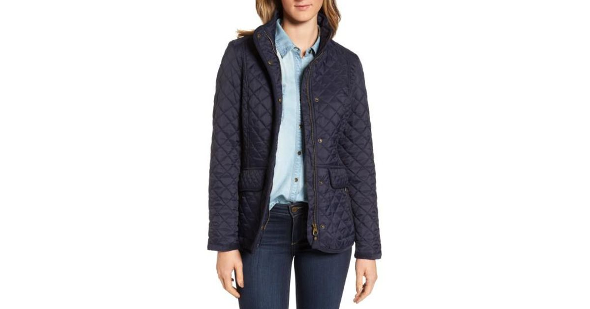 Lyst Joules Warm Welcome Quilted Jacket In Blue