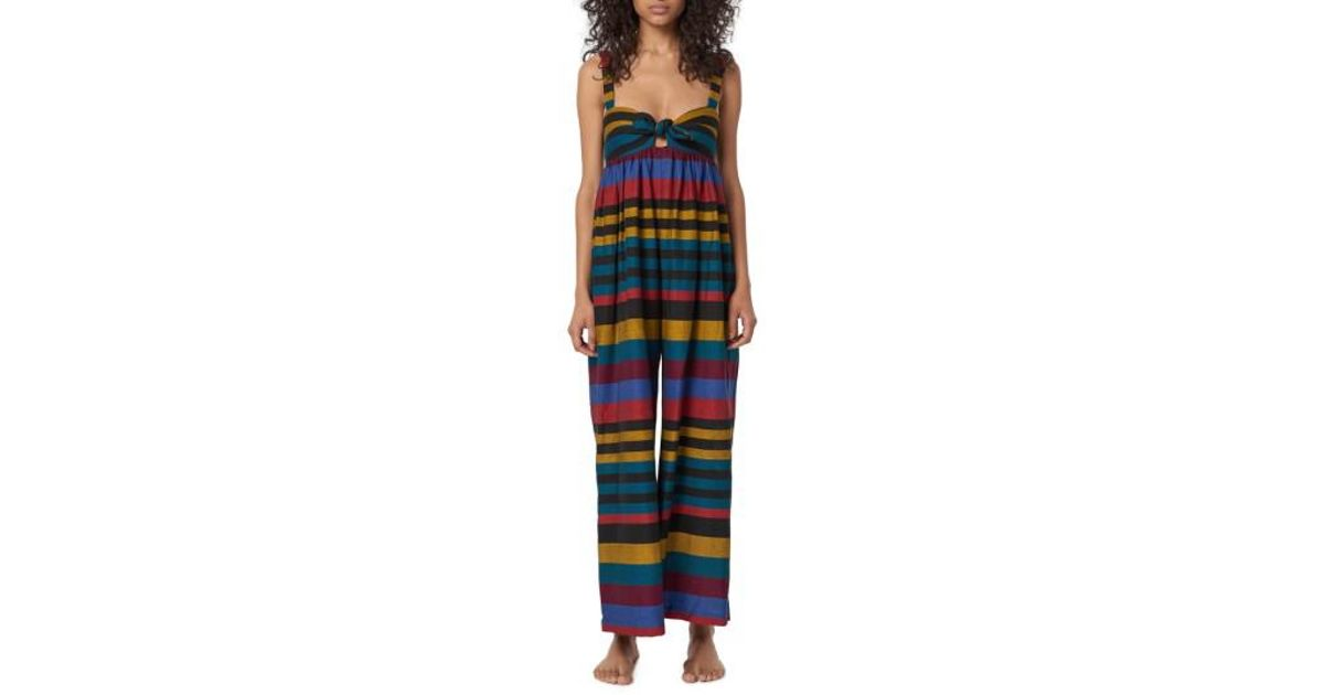 ea713a75f8c0 Lyst - Mara Hoffman Isla Staccato Stripe Cover-up Jumpsuit