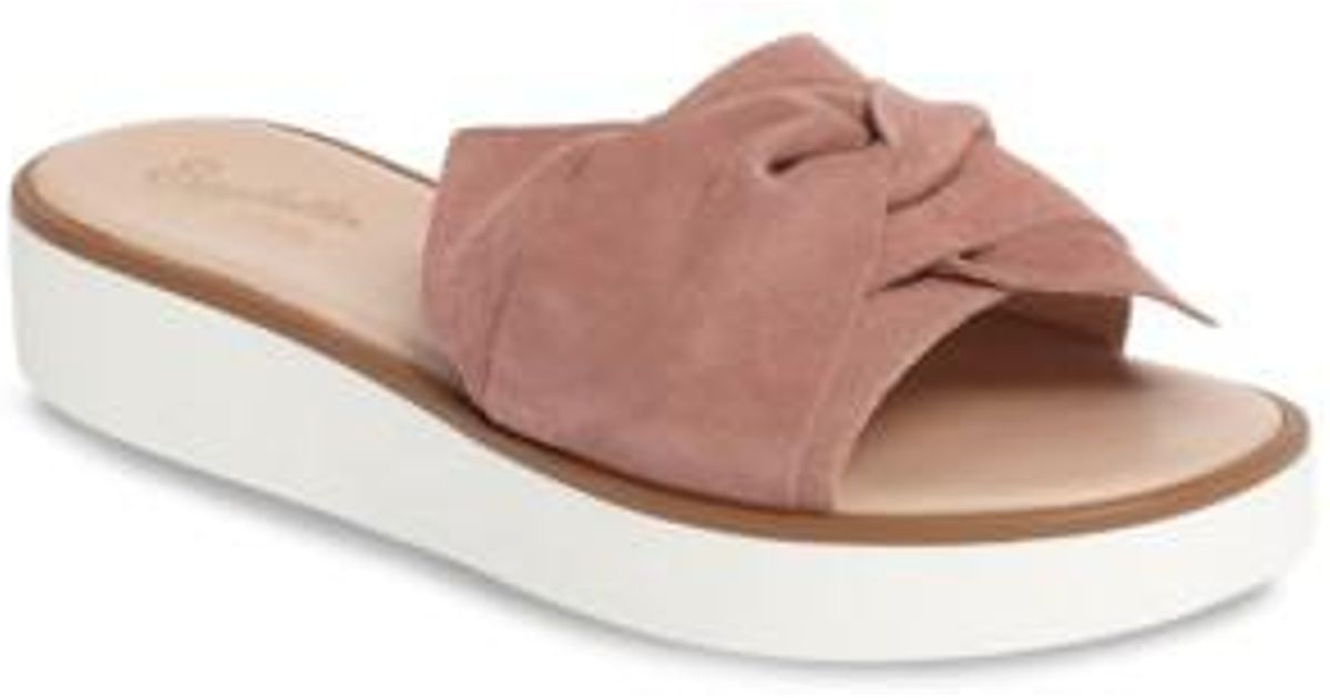 86e8426d26e5 Lyst - Seychelles Coast Knotted Slide Sandal in Pink