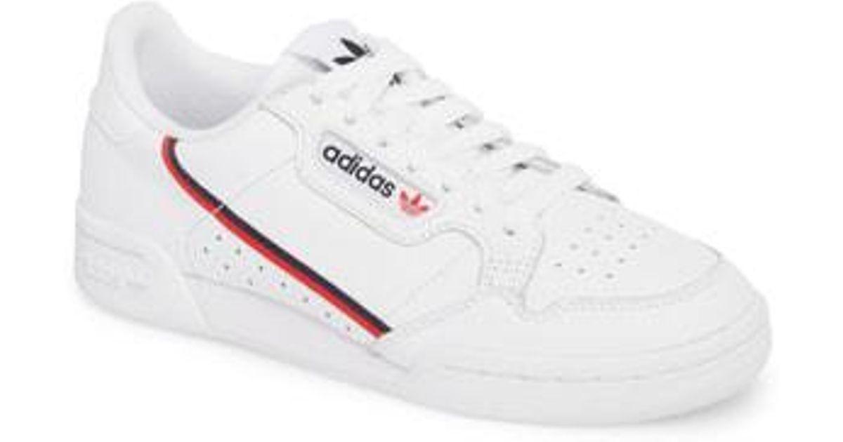68cc59e3a11 Adidas Continental 80 Sneaker in White - Lyst