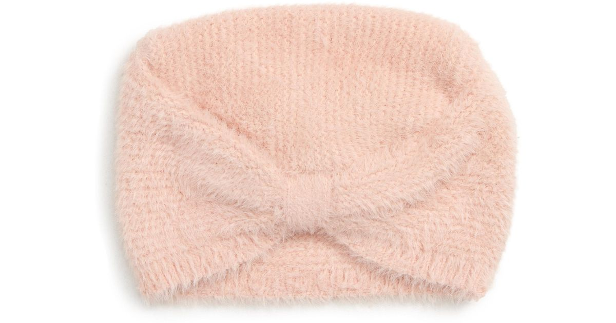 70f3e1f46 Leith - Pink Textured Turban - Lyst