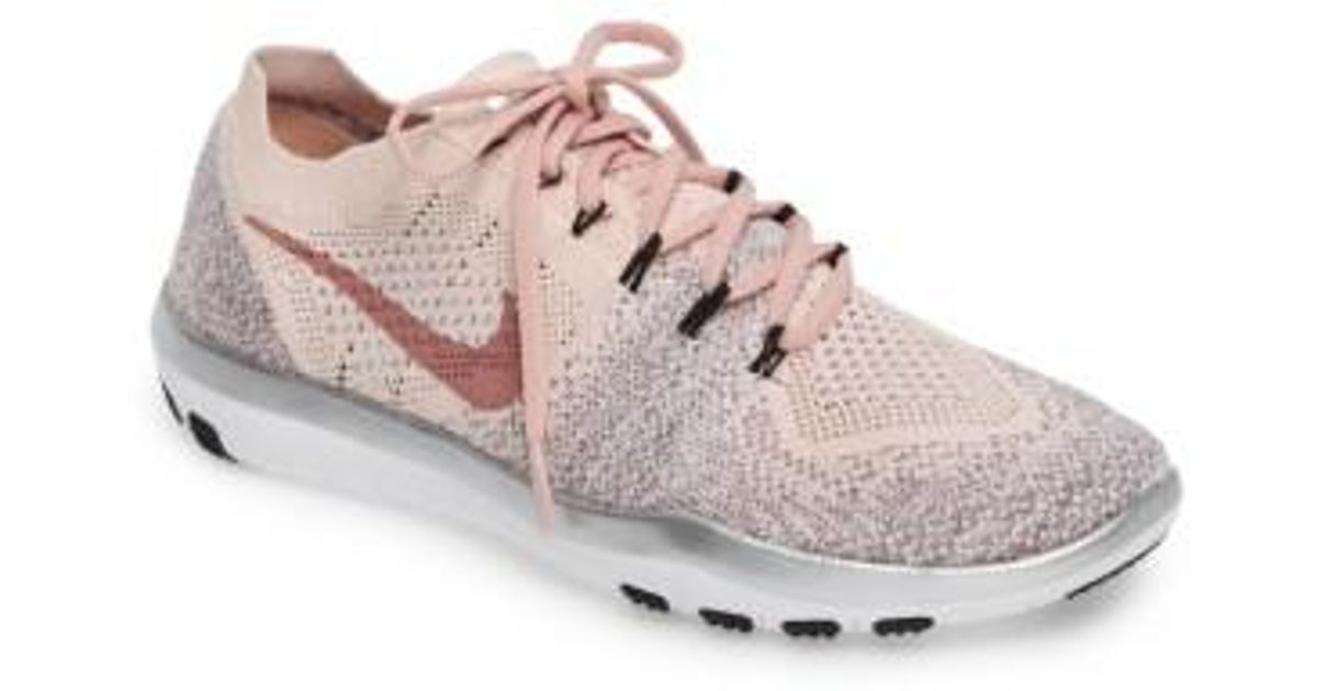 6168001b5a877 ... get lyst nike free focus flyknit 2 bionic training sneakers in pink  da2bf 50aa1