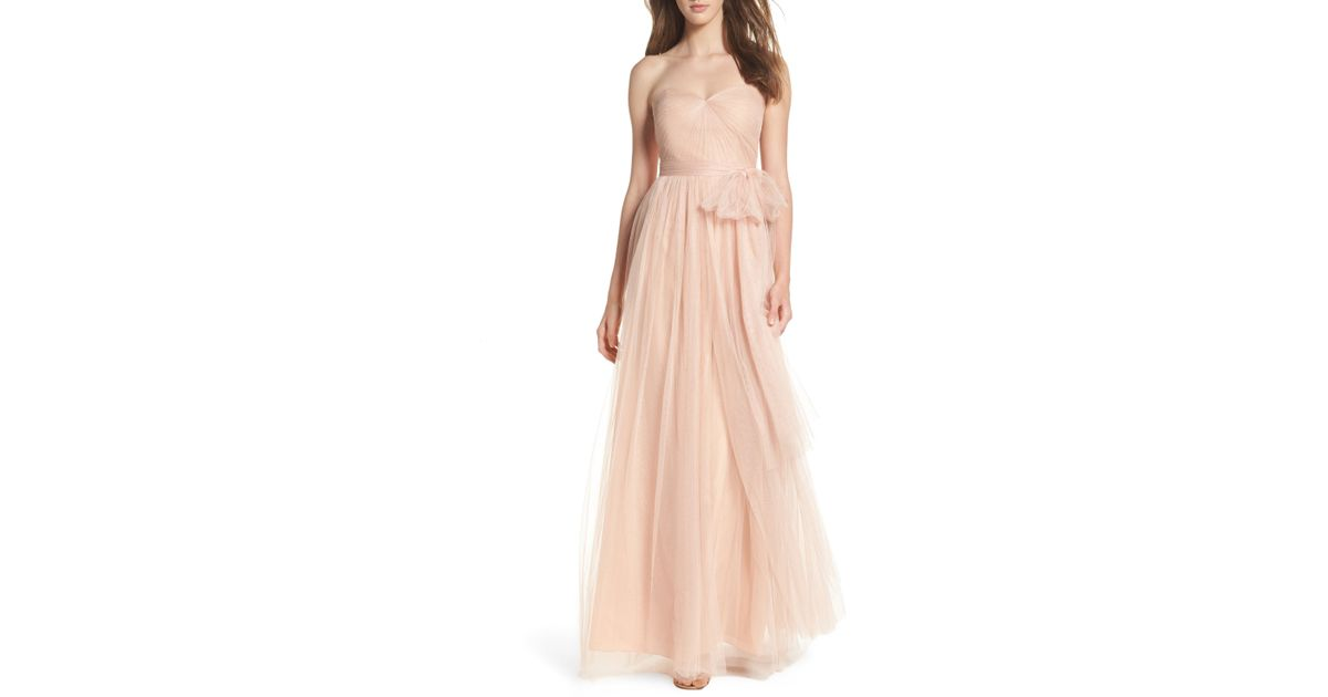 8500ccf7b3d Lyst - Jenny Yoo Annabelle Convertible Tulle Column Dress in Pink