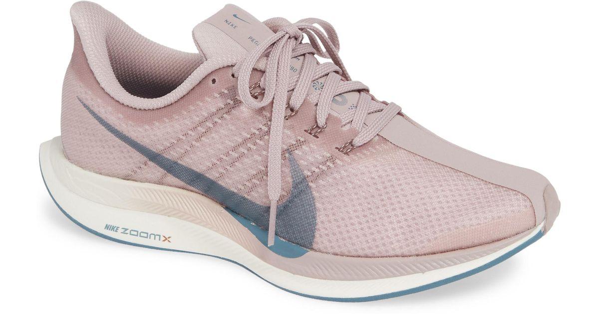 6618e0b00ba4 Lyst - Nike Zoom Pegasus 35 Turbo Running Shoe in Pink