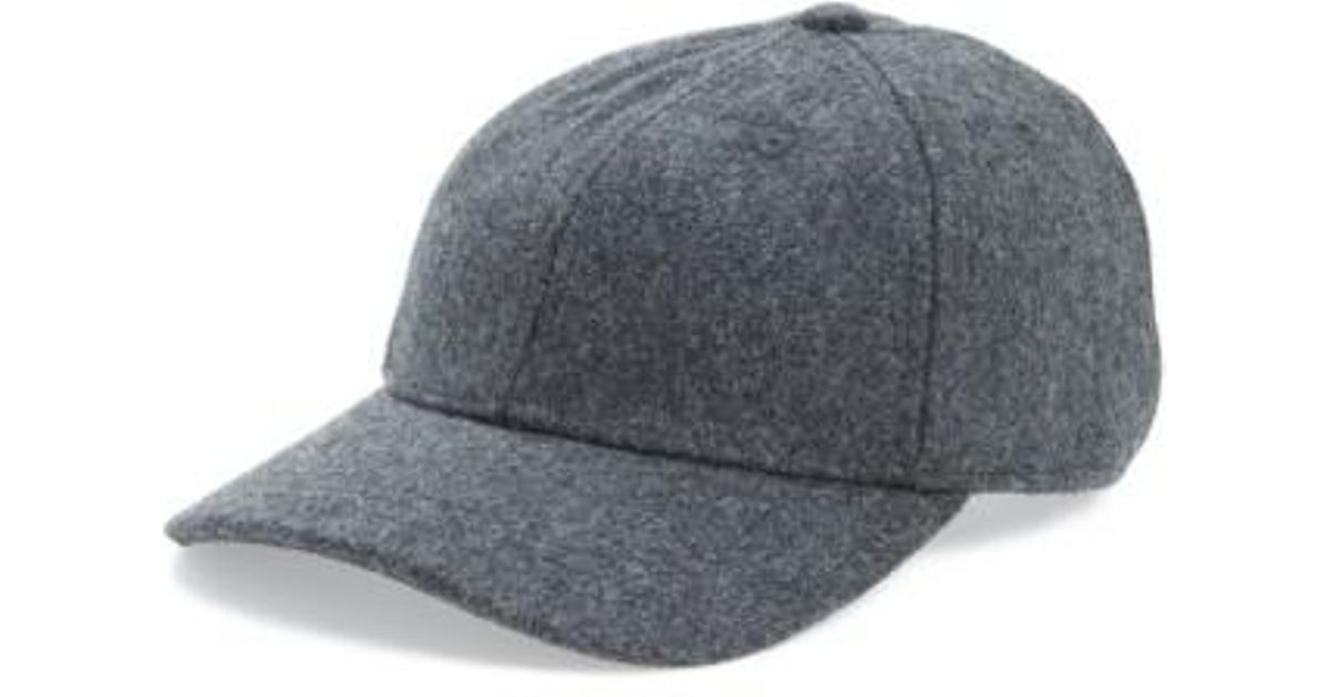 Lyst - Madewell Wool Blend Baseball Hat in Gray for Men b6f8807a31d4