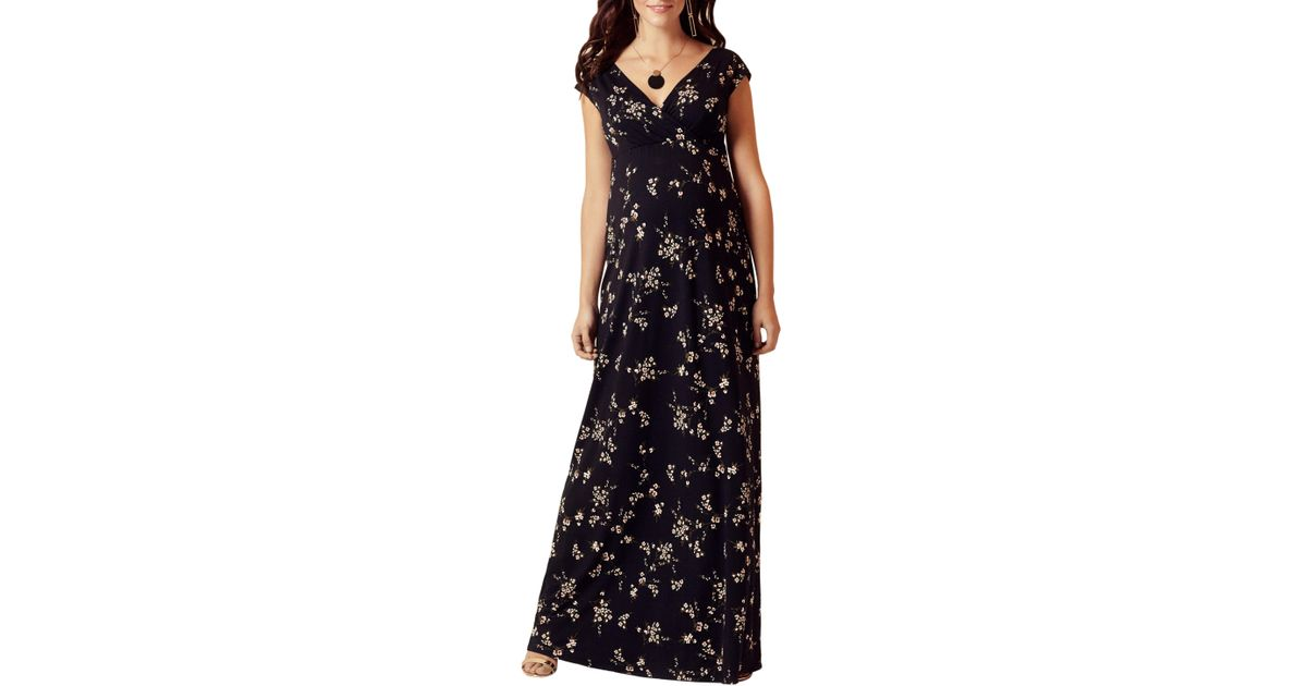 c6eee78a91f Lyst - TIFFANY ROSE Alana Maternity nursing Maxi Dress in Black