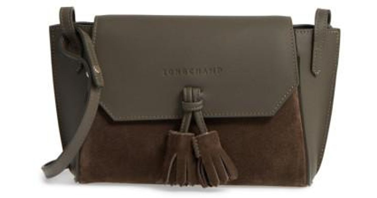 3edfeb9c18 Longchamp Small Penelope Leather Crossbody Bag - Lyst