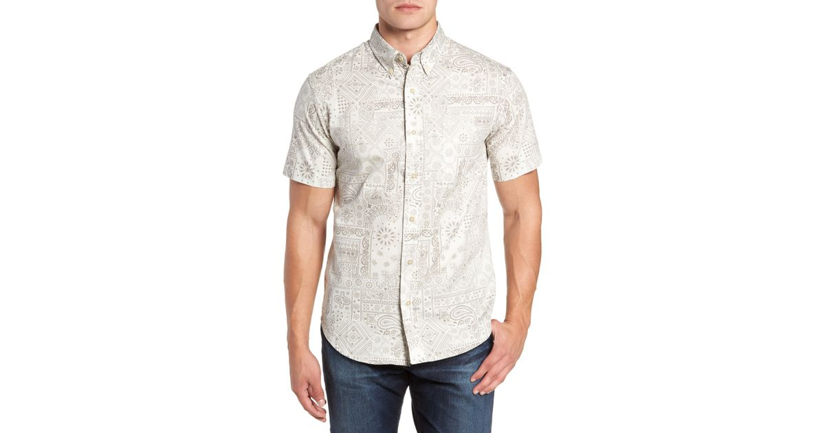 542b56e536b1 Lyst - Reyn Spooner Aloha Bandana Regular Fit Sport Shirt in White for Men