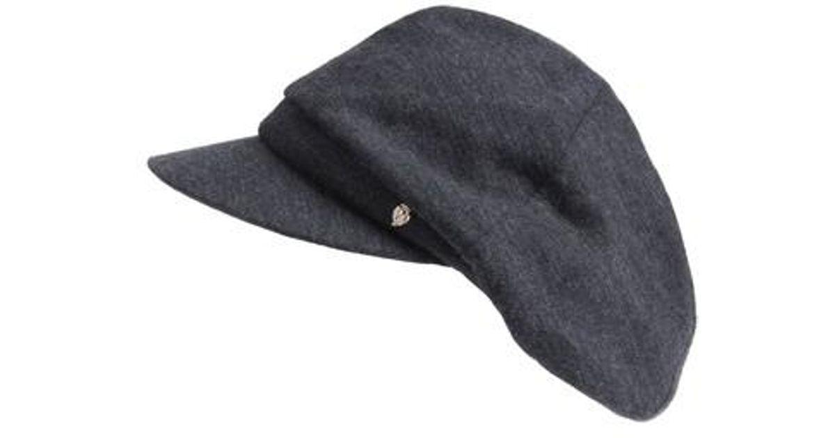 Lyst - Helen Kaminski Merino Wool Baker Boy Cap in Gray for Men 5cc428f020c4