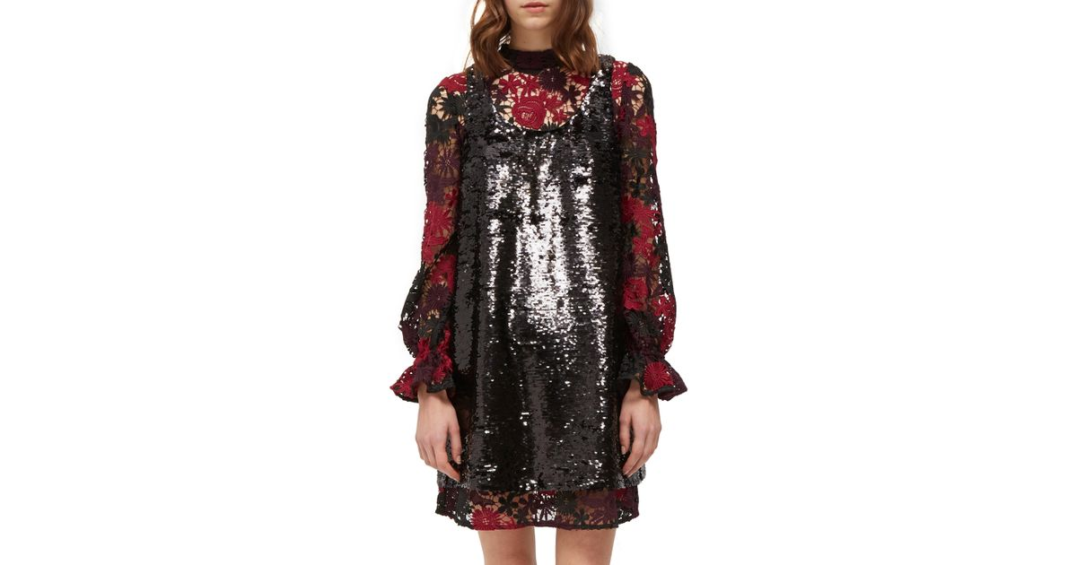 3b476dd1 French Connection Cynthia Sequin Dress in Black - Lyst