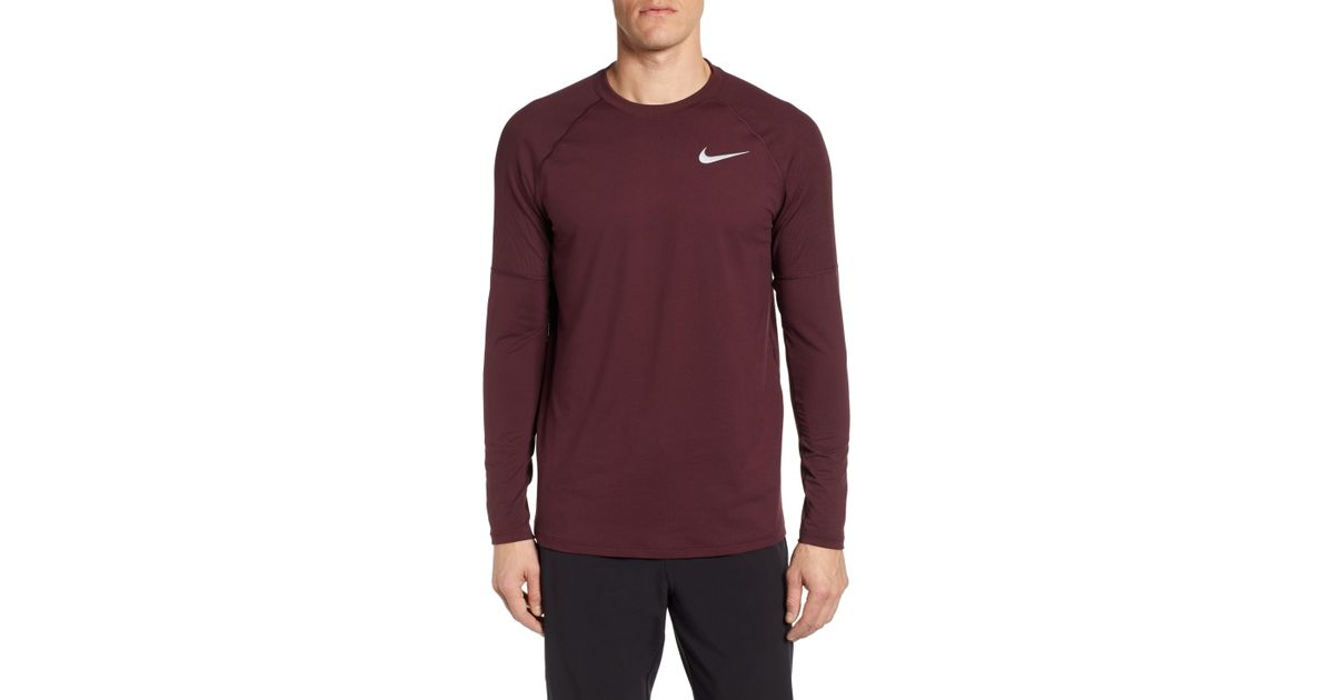 c68159404502 Lyst - Nike Element Dry Crewneck Running T-shirt in Purple for Men
