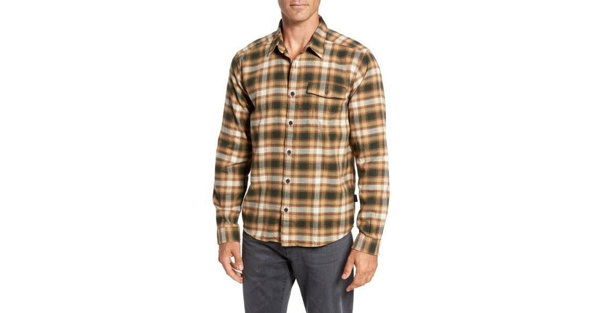 e9ac1a41b90 Lyst - Patagonia Regular Fit Organic Cotton Flannel Shirt in Brown for Men