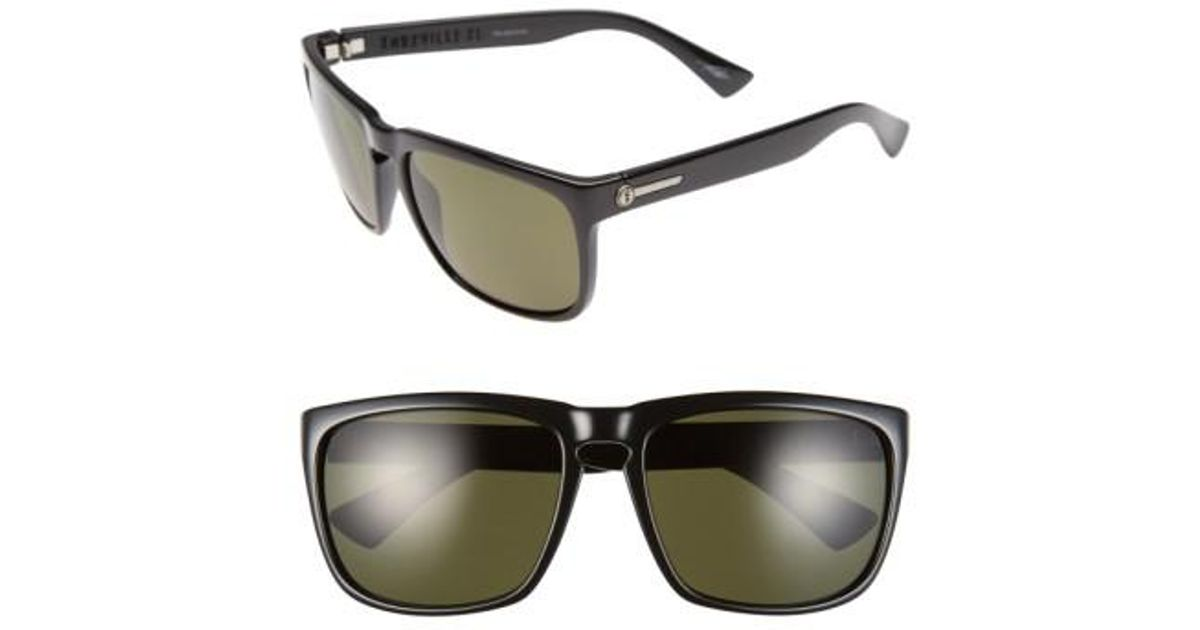 77464a5838d Lyst - Electric  knoxville Xl  61mm Polarized Sunglasses - Gloss Black   Grey Polar in Black