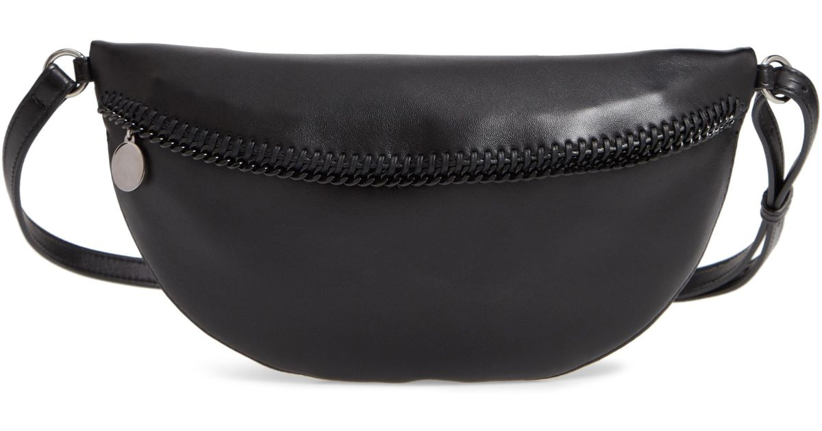 690a76b1b19c Lyst - Stella McCartney Chain Trim Bum Bag - in Black