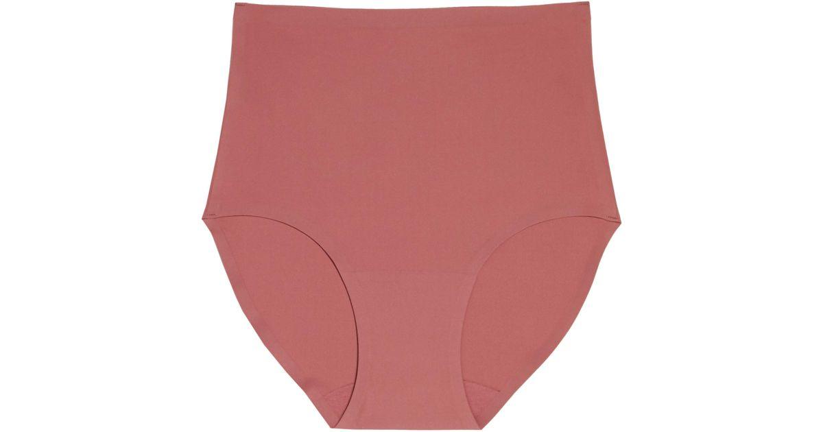 b9a5534b390f Lyst - Chantelle Soft Stretch High Waist Seamless Briefs in Red