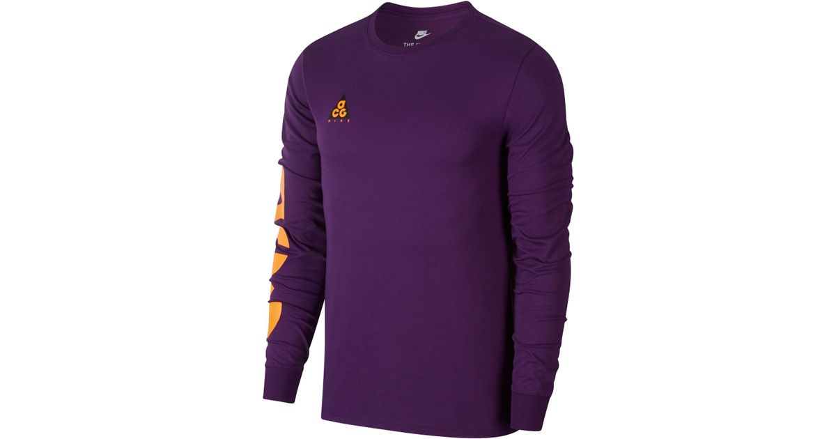 reputable site e4866 5505f Lyst - Nike Nsw Acg Graphic T-shirt in Purple for Men