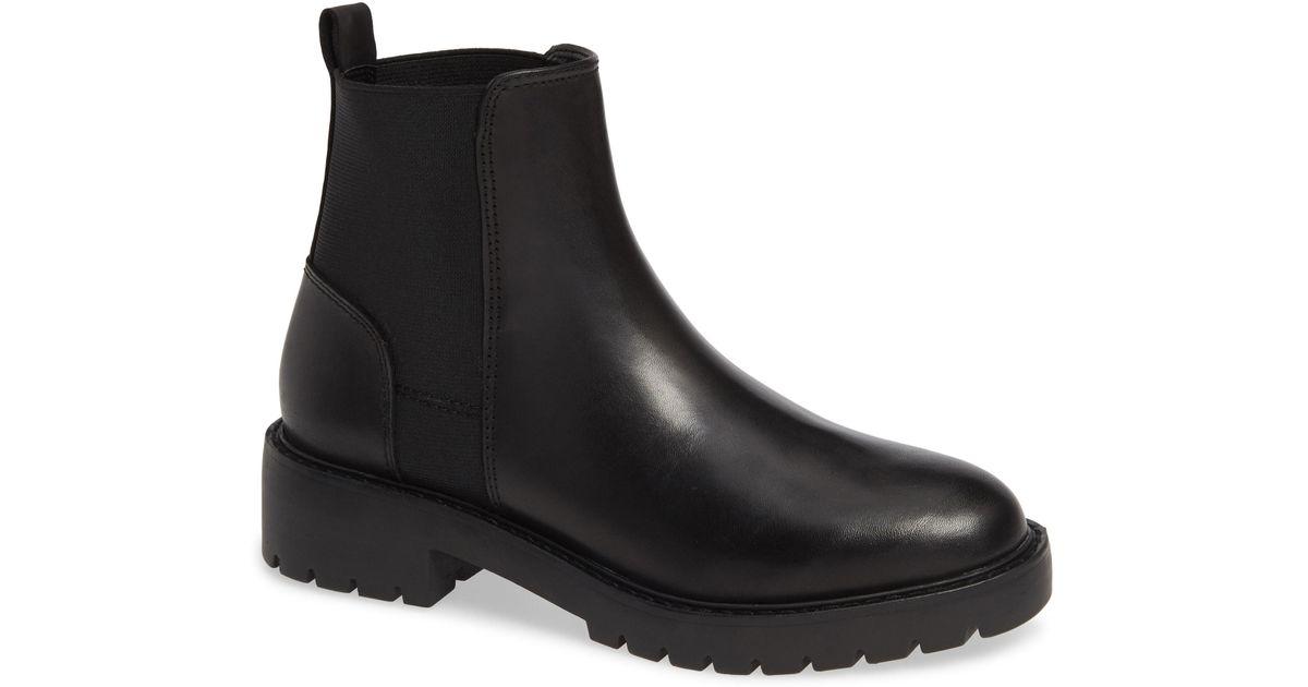 f7e086c205f511 Lyst - Steve Madden Gliding Boot in Black