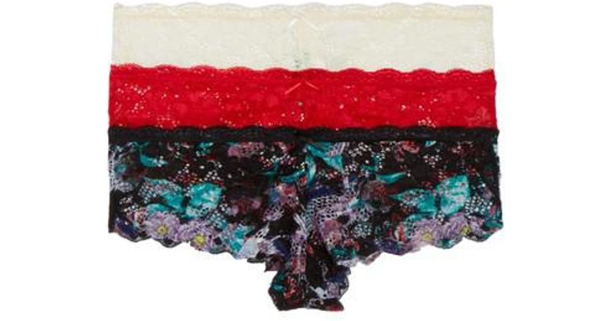 03ed0955d453 Lyst - Honeydew Intimates Camellia Hipsters - Pack Of 2 in Red
