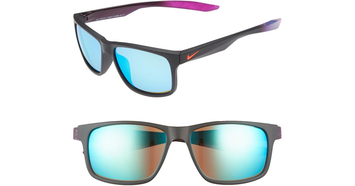 4a9b4759c63 Lyst - Nike Essential Chaser 57mm Reflective Sunglasses - in Blue for Men