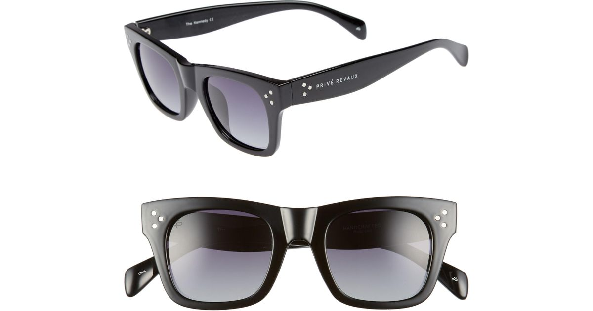 8784ceefb9 Lyst - Privé Revaux The Kennedy 45mm Polarized Sunglasses in Black for Men