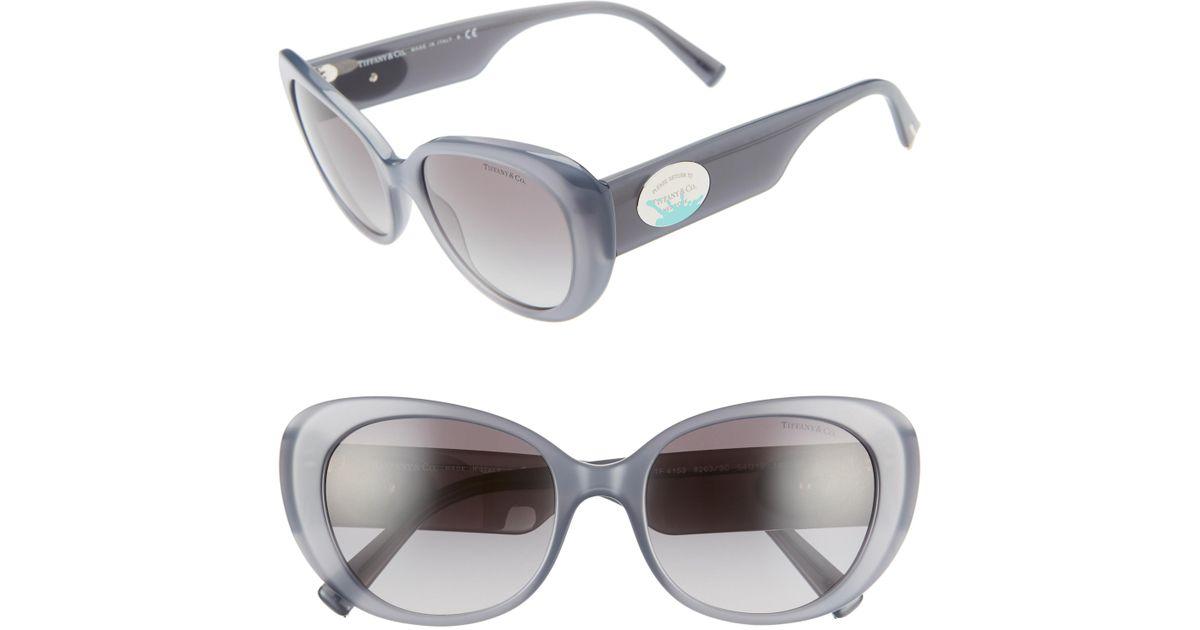 7854bf33ba0 Lyst - Tiffany   Co. Return To Tiffany 54mm Oval Sunglasses - Opal Grey  Gradient in Gray