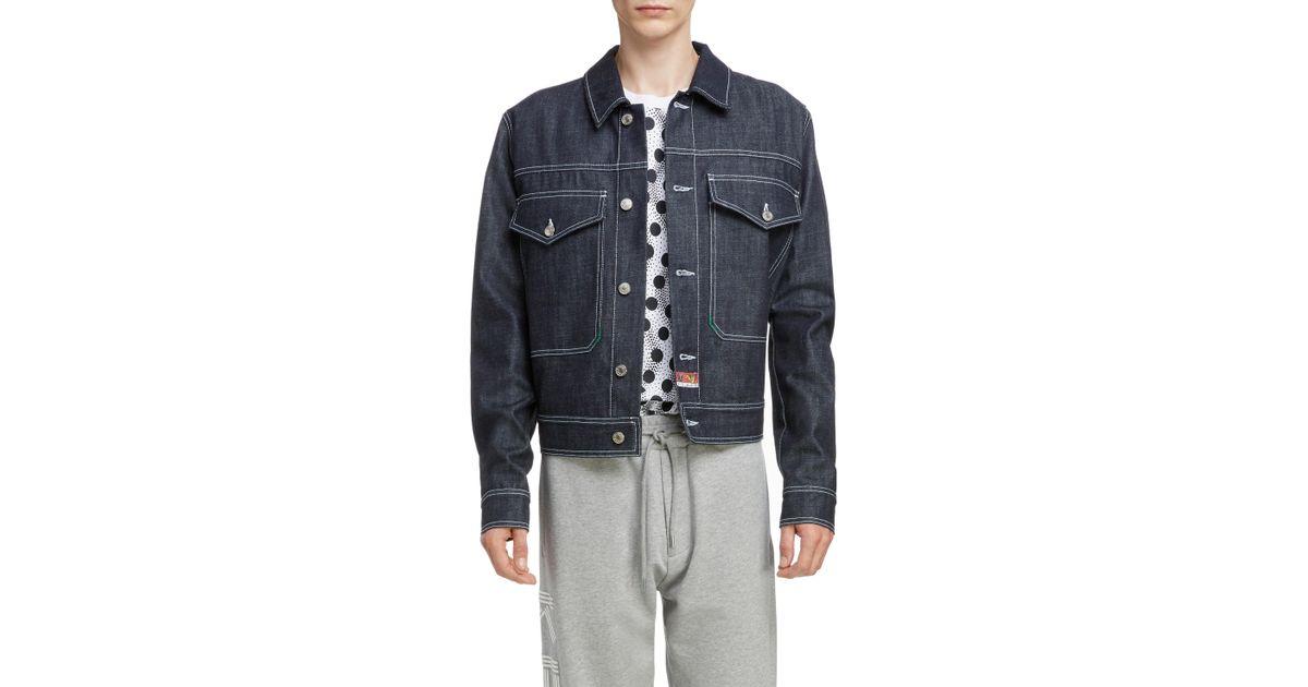 2da34d4e Lyst - Kenzo Jumping Tiger Embroidered Denim Jacket in Blue for Men