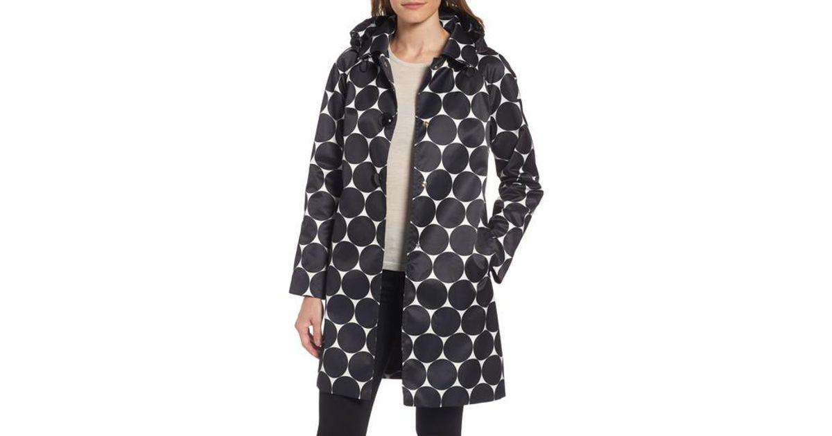 9176b2699b74 Lyst - Kate Spade Dot Print Raincoat in Black