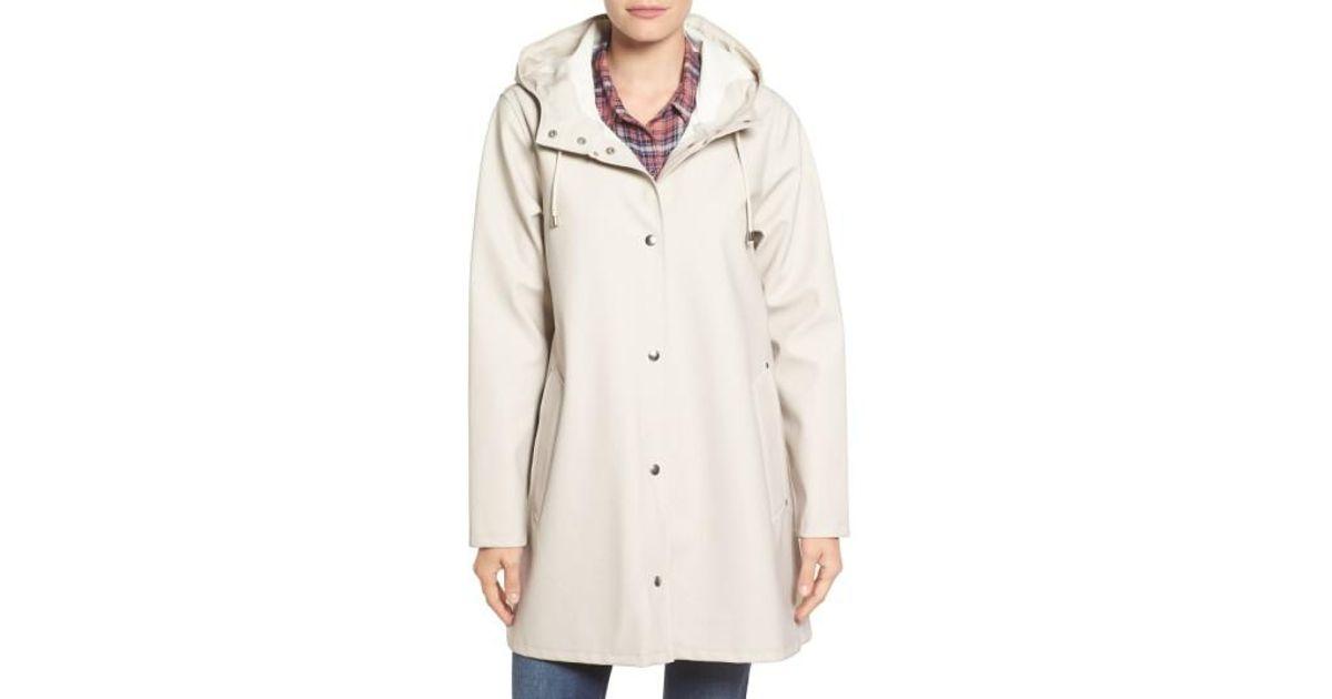 3f831446691 Lyst - Stutterheim Mosebacke Waterproof A-line Hooded Raincoat in ...