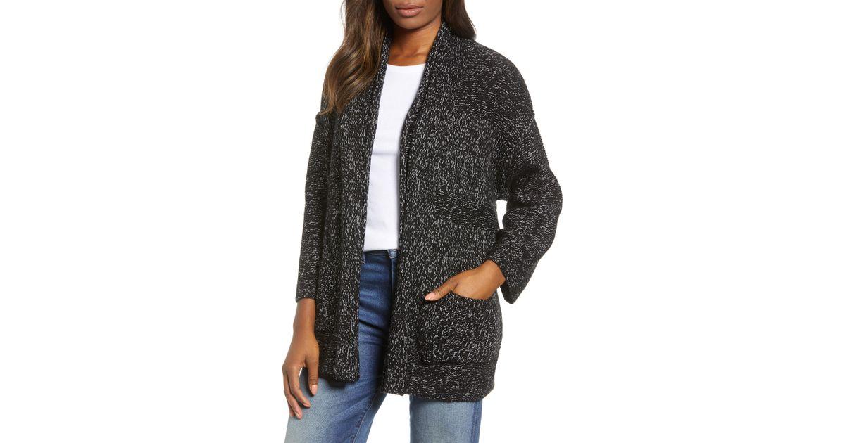 23b5ab95d Lyst - Caslon Caslon Open Texture Stripe Cotton Blend Cardigan