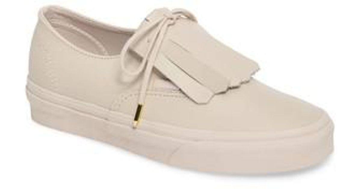 7d16369a38 Lyst - Vans Authentic Fringe Dx Sneaker in Pink