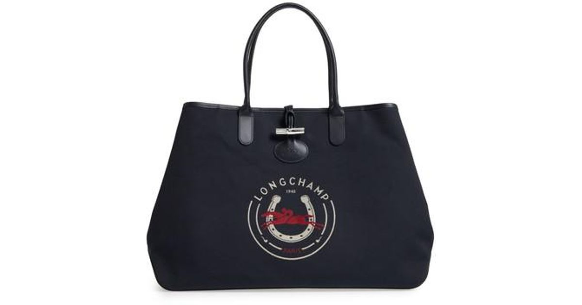 0e888dc6797f Lyst - Longchamp Roseau 1948 Extra Large Tote in Blue