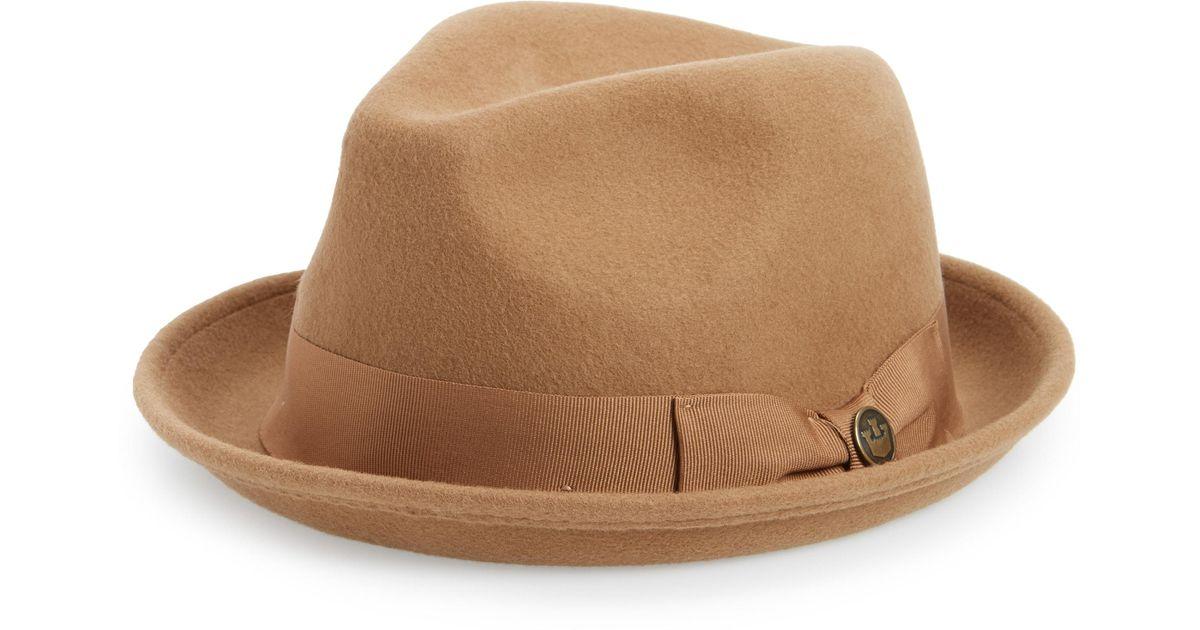c4b1f293e25acd Lyst - Goorin Bros The Good Boy Felt Wool Fedora in Natural for Men - Save  30%