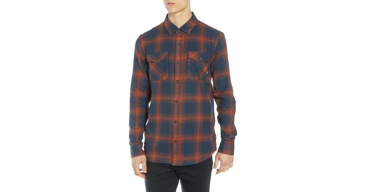 78295077c73 Lyst - Vans Monterey Iii Plaid Flannel Shirt in Blue for Men
