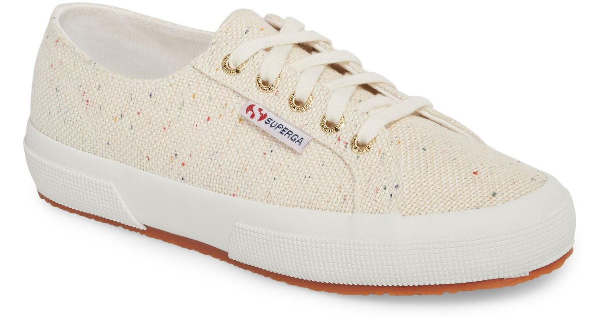 e1ff51bf45e Lyst - Superga 2750 Speckle Low Top Sneaker in White