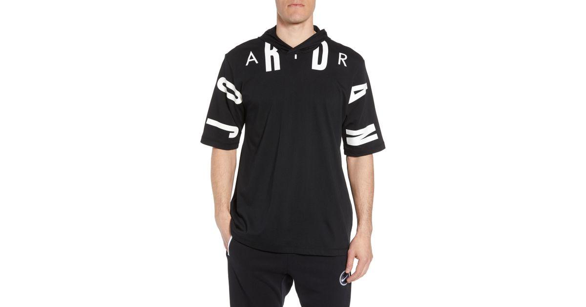 89c509e2ab0 Nike 23 Hooded T-shirt in Black for Men - Lyst