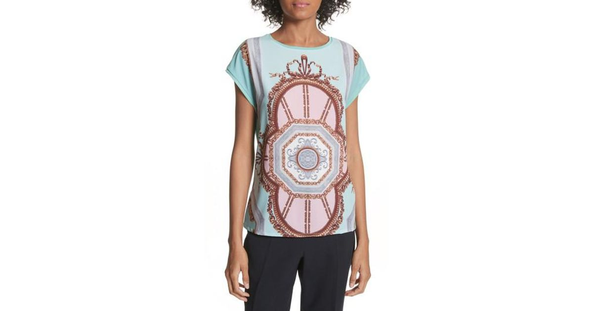 Lyst Tee Ted Versailles Woven Front Baker O0TSnqUrw0