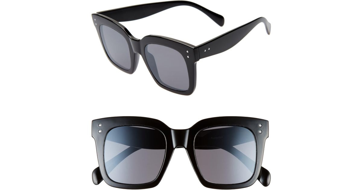 BP. 49mm Square Sunglasses in Black - Lyst