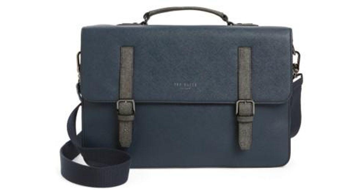 fc9fab250364 Ted Baker Chase Messenger Bag - in Blue for Men - Lyst