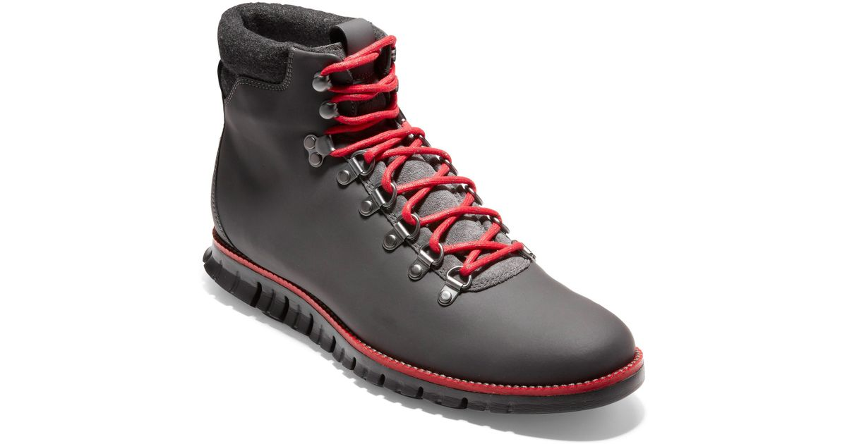 0a16e0fd4153 Lyst - Cole Haan Zerogrand Water Resistant Hiker Boot in Gray for Men