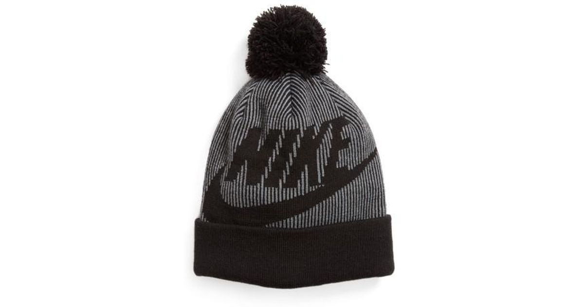 separation shoes 02a67 c21a8 Lyst - Nike Sportswear Beanie With Removable Pom in Black for Men