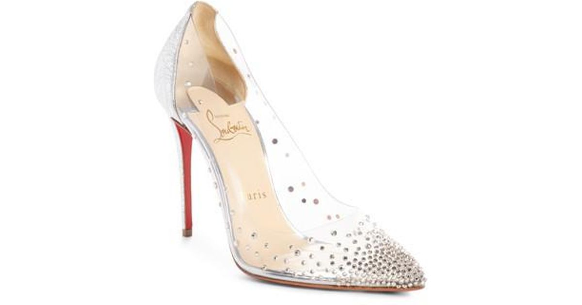 Spikoo 70 Spiked Pvc And Mirrored-leather Pumps - Silver Christian Louboutin Wn5MJQTw