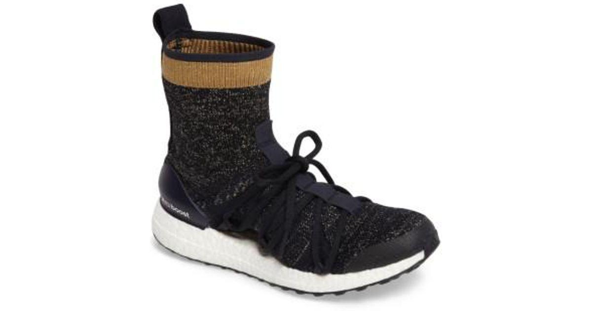 be19410ad9b04 Lyst - adidas By Stella Mccartney Ultraboost X Primeknit Mid Sneaker in  Black