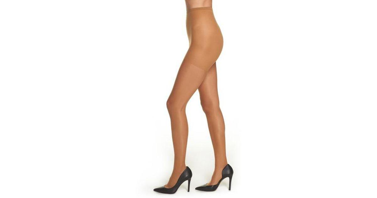 021e7b33630 Nubian Skin Glossy Sheer Pantyhose in Brown - Lyst