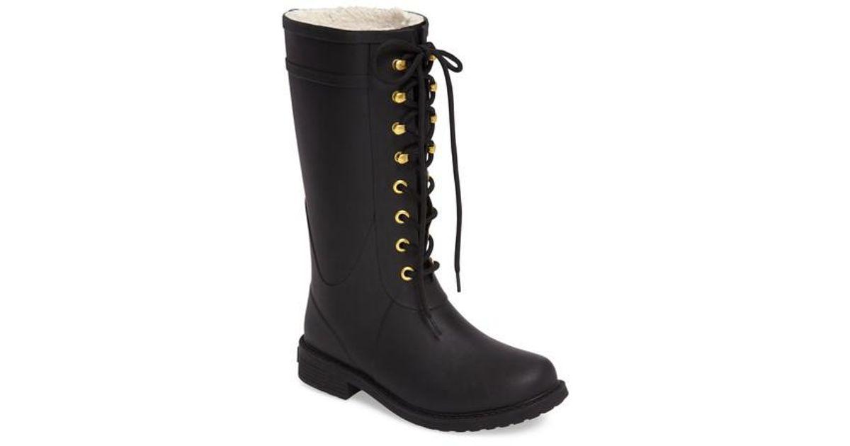 3edc0ef9e Lyst - Sam Edelman Kay Lace-up Rain Boot in Black