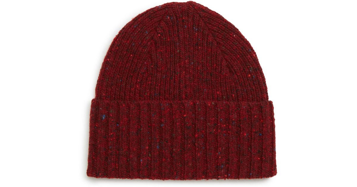 Lyst - Drake s Drakes Donegal Wool Beanie - in Blue for Men f69c9f58596