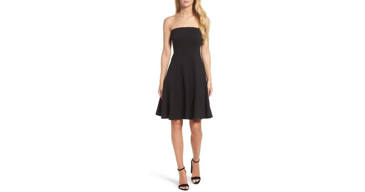 8d3bc3009a Lyst - Felicity   Coco Strapless Fit   Flare Dress in Black